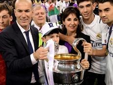Solo dos de los hijos de Zidane siguen en el Madrid. AFP