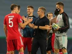 Flick, optimista pese a que el Bayern solo ha tenido una semana de pretemporada. AFP