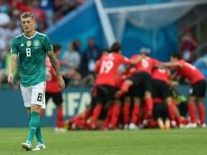 O problema de Kroos com o futebol mexicano. AFP