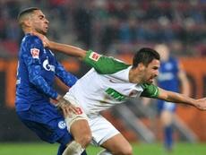 Remontada y victoria del Schalke ante el Augsburg. AFP