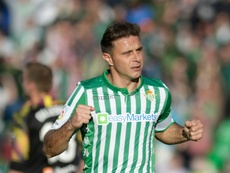 Joaquín dio la cara tras la derrota ante el Mallorca. AFP