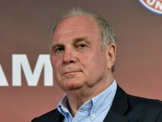 Hoeness is still not over Bayern's European exit. AFP