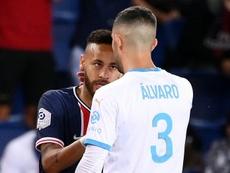 Álvaro quiere pasar página de su bronca con Neymar. AFP