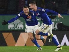 El Leicester tampoco afloja en el Carabao. AFP