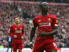 Sadio Mane marcou o segundo gol da vitória do Liverpool contra o Bournemouth. AFP