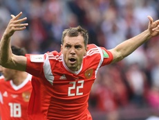 Artem Dzyuba le hizo cuatro goles a San Marino. AFP/Archivo