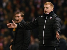 Neil Lennon's Hibs side were defeated by Aberdeen. AFP