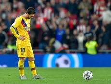 Messi spoke at length about Barcelona's controversies this season. AFP