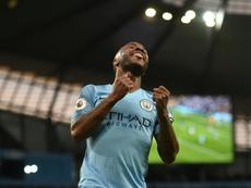 Sterling foi um dos que marcaram na goleada. AFP