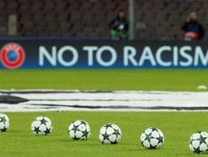 Victime de racisme, il répond en marquant. AFP