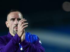 Ribéry negó que esté pensando en irse de la Fiore por el robo. AFP