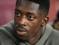 Dembélé respira aliviado. AFP