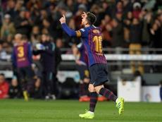 Messi puede con todos. AFP