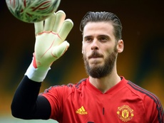 De Gea only has a future at Old Trafford in mind. AFP