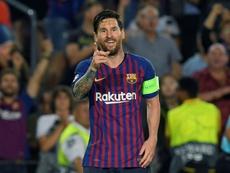 Messi a 84 gols de Pelé. AFP