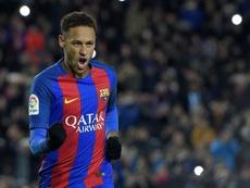 Elogios para Neymar. AFP