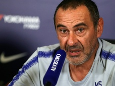 Sarri spoke to the press. AFP