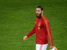 Sergio Ramos was injured playing in Spain's 6-0 hammering of Germany in midweek. AFP