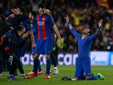 Neymar recuerda el 6-1. AFP