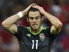 Bale juega más con Gales que con el Madrid. AFP