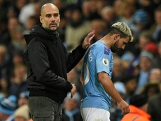 Pep Guardiola confirmed that Aguero will not return in time for the derby. AFP