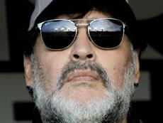 Revelan las grandes polémicas de Maradona en Sevilla. AFP
