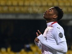 AC Milan's Portuguese forward Rafael Leao is set to release his first rap album. AFP