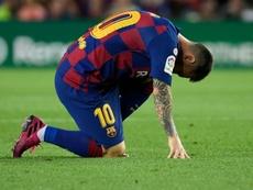 'TV3': Messi não jogará em Getafe e é dúvida para a Champions. AFP