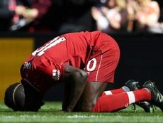 Mané's goals were not enough to clinch Liverpool the league title. AFP