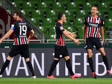 Frankfurt goleia o Hertha e escala na tabela. AFP