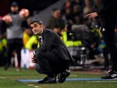Ernesto Valverde ya ha comenzado a pensar en 'red'. AFP/Archivo