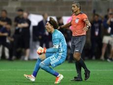 Ochoa a joué la finale de la Gold Cup blessé. AFP
