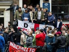 'Ley seca' en Ámsterdam para prevenir en el Ajax-Chelsea. AFP