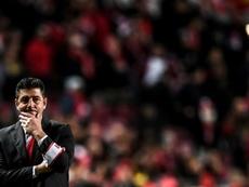 Rui Vitoria pone fin a tres años al frente del Benfica. AFP