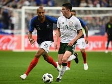 Declan Rice achève son contrat avec West Ham en 2019. AFP