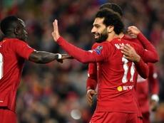 Salah hizo el gol del triunfo. AFP