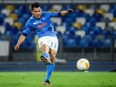 Gattuso, encantado con Hirving Lozano. AFP