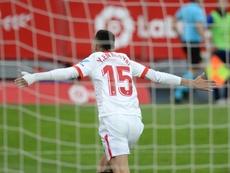 Sevilla's Moroccan forward Youssef En-Nesyri scored a hat-trick against Cadiz. AFP