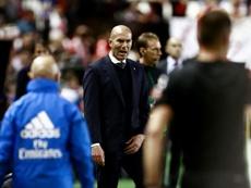 Zidane perde a paciência com o Real. AFP