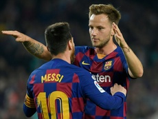 Rakitic analysed Barca's win. AFP
