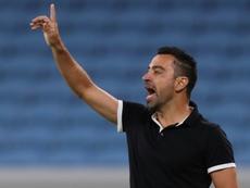 Xavi a perdu son calme. AFP