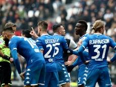 Precioso gesto del Brescia, ex equipo de Balotelli. AFP