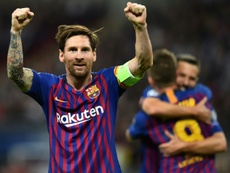 Messi anotó un 'hat trick' esta jornada. AFP/Archivo