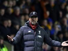 O técnico do Liverpool, Jürgen Klopp, ameniza o momento negativo. AFP