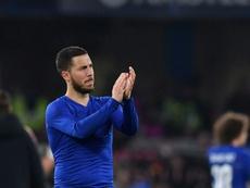 Hazard volvió a ser preguntado por el Madrid. AFP