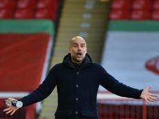 Guardiola explicó que su objetivo es hacerlo lo mejor posible. AFP
