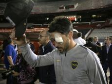 Pablo Pérez recordó la final de la Libertadores en Madrid. AFP
