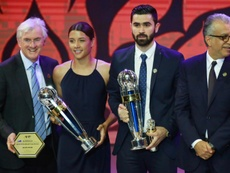 Omar Khrbin is the Asian Football Confederation Men's Player of the Year. AFP