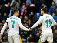 Bale habló de Cristiano Ronaldo. AFP
