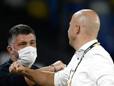 De Laurentiis ya envió el contrato de renovación para Gattuso. AFP